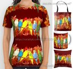 Colorful budgie pattern by emmil