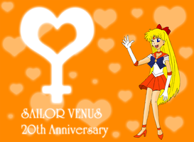 Sailor Venus 20th Anniversary by ZeFrenchM