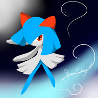 Shiny Kirlia :GIFT: by SassCannon