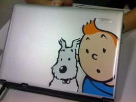 """Laptop Cover - Tintin by canecodesign"
