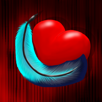 Heart and Feather - Happy Valentine's Day 2014 by Nachturia
