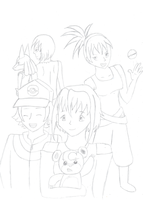 Finding You Group Shot - WIP by vera-san