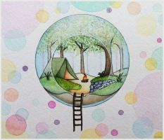 Bubble camping (Collab added) by ChristineDim