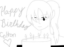 Happy Birthday Colton  (Simple Sketch) by TorturousDreams