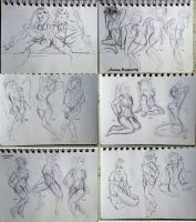 221 - 238 (1000 gesture drawing challenge) by anime-master-96