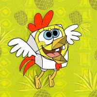 Spongebob in a chicken suit by LazyAsHell