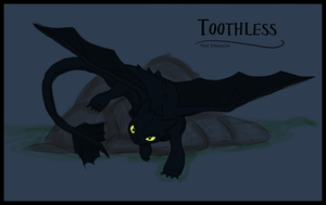 Toothless Sketch by Caliber13