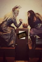 Thranduil and Lady Thorin Cosplay - Middle Earth by SparrowsSongCosplay