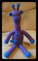 Purple Giraffe by tape-artist