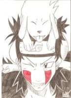 Kiba and Ackamaru by AnimeArt99