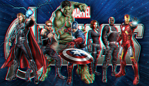 The Avengers In 3D by Geosammy
