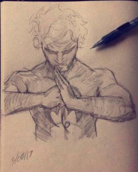 Iron Fist Sketch by BenTheFighter