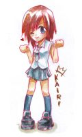 Kairi_watercolour by Hyuei