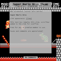 Super Mario Bros Journal Skin by Retro-Specs