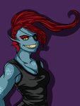 Undyne the Undying by H0ly-LiGhT