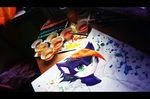 Watercolours-wip by LeilaBC