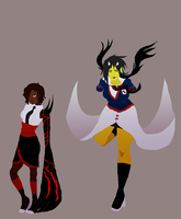 SOM Uniform Contest Submission - Mary and Kiiro by The-Concept-Artist