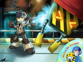 Mighty No. 9: Beck And Cone by BaiHu27
