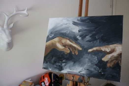 My first oil painting by Jevith