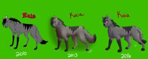 Kaia Draw Again difference by Mana-ghostwolf
