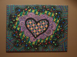 Sharpie Heart Swirls by meralies
