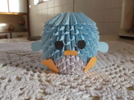 3D Origami (Block Folding) Penguin by wiKiwi