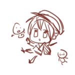 Work process of Hotarumaru Chibi by kthelimit