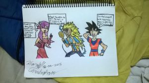 Dellson doesn't approve Super Saiyan III by Dell-AD-productions