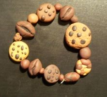 Coffee and Cookie Bracelet by gothic-ballerina