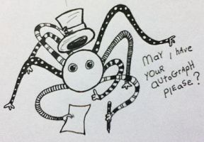 Doodle: Mr.FriendlySpider - autograph by plaidsandstripes