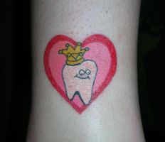 Leigh's Tooth Tattoo by scumbugg