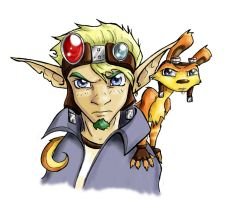 Textured Jak and Daxter by Yakow
