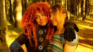 Merida vs Astrid by shua-cosplay