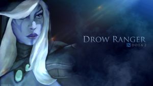 Traxex - The Drow Ranger / DOTA 2 by neonkiler99