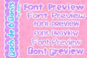 pack de 6 fonts by By-Kary