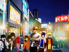 Hanging out at Shibuya Crossing by yugioh1985
