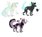 Adoptable Wolves Points(open) by SharkBum
