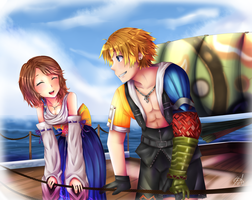 Tidus and Yuna by HappySmileGear