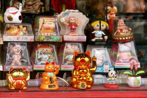 Toys in China Town in Victoria, Canada by Pabloramosart