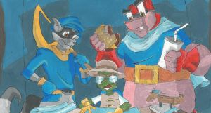 Sly Cooper and the Gang by WriterAnonymous14