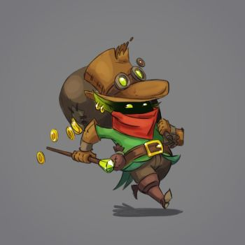 Tricky Leprechaun character concept by Pykodelbi