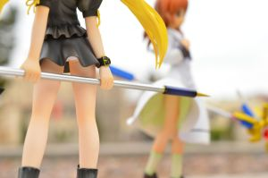 Fate Protects Nanoha's Chastity by ExileHero