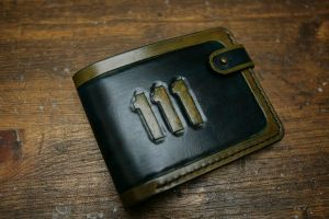 Fallout Vault 111 Leather Bifold Wallet by Arnakhat