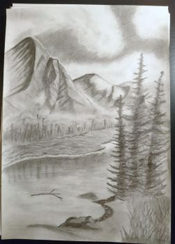 Mountains in the mist by kiirie