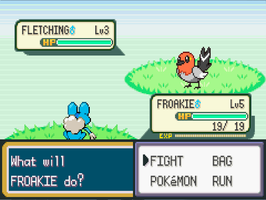 Froakie VS Fletching by levirotem