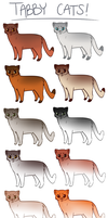 Ticked Tabby Designs by PatchyFallenstar