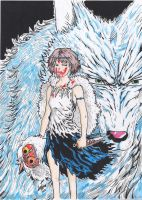 Princess Mononoke Watercolors by LucaNnoCorE