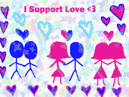 I Support Love. by TMNTISLOVE