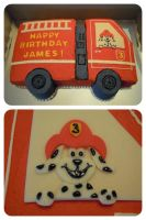 Fire Truck Cake by cake4thought