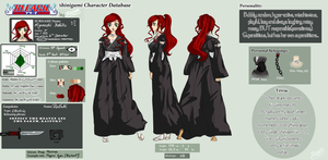 Bleach OC Reference Sheet Higaneshi Yoshiko by xXIvkaXx
